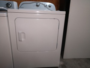 WHIRLPOOL ELECTRIC DRYER, 220 V, CONDITION UNKNOWN BUT WAS REMOVED FROM A WORKING HOUSEHOLD and SHIPPED HERE WITH EXECUTIVE FURNITURE LEASING