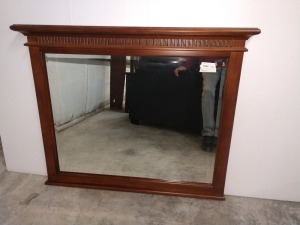 VERY NICE WALL MIRROR, VAUGHN BASSETT BRAND, MEASURES 43-IN X 37-IN, DOES MATCH LOT 1033, 1032, 1031, 1030