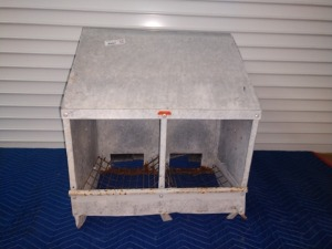 20-IN, TWO-BIN NESTING BOX, GALVANIZED