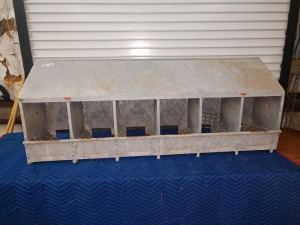 60-IN, 6-BIN NESTING BOX, GALVANIZED