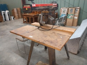CRAFTSMAN 10-IN CONTRACTOR SERIES RADIAL ARM SAW, item does power and run