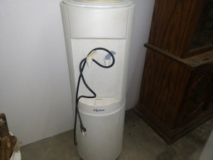 WATER COOLER FOR LARGE BOTTLES, SEE PICTURE FOR MODEL INFORMATION