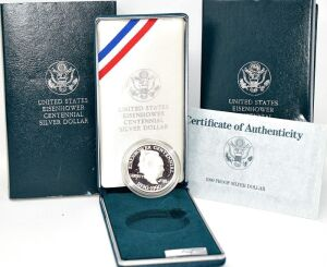 1990 SILVER PROOF EISENHOWER SILVER DOLLAR