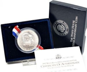 1992 WHITE HOUSE 200TH ANNIVERSARY SILVER DOLLAR