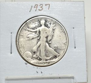 1937 SILVER WALKING LIBERTY HALF DOLLAR