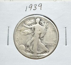 1939 SILVER WALKING LIBERTY HALF DOLLAR
