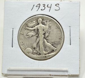 1934 S SILVER WALKING LIBERTY HALF DOLLAR