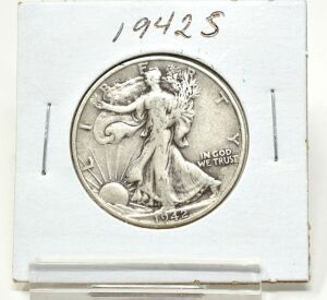 1942 S SILVER WALKING LIBERTY HALF DOLLAR