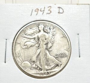 1943 D SILVER WALKING LIBERTY HALF DOLLAR