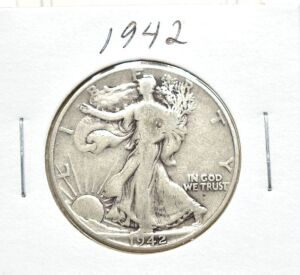 1942 SILVER WALKING LIBERTY HALF DOLLAR