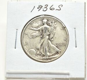 1936 S SILVER WALKING LIBERTY HALF DOLLAR