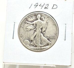 1942 D SILVER WALKING LIBERTY HALF DOLLAR