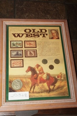 OLD WEST STAMP AND COIN COLLECTION