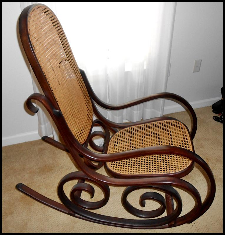 Lot 1066 of 508: Vintage Thonet Style Italian Bentwood Rocking Chair by  Salvatore Leone - Vintage Thonet Style Italian Bentwood Rocking Chair By Salvatore Leone