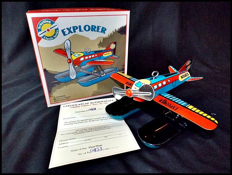 Schylling Collectors Tin Toy Float Plane New In Box