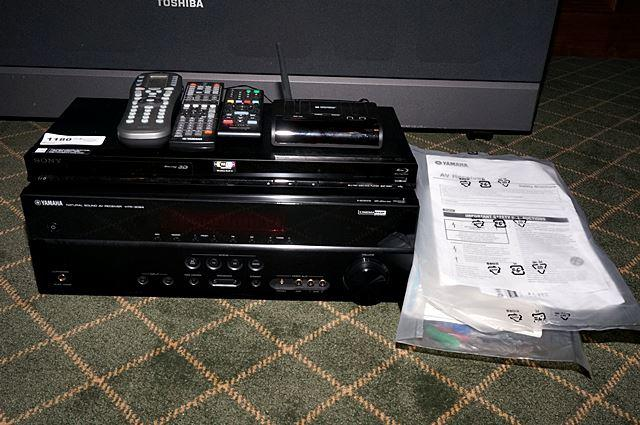 YAMAHA HTR-3064 STEREO RECEIVER, SONY BDP-S580 BLU-RAY / DVD