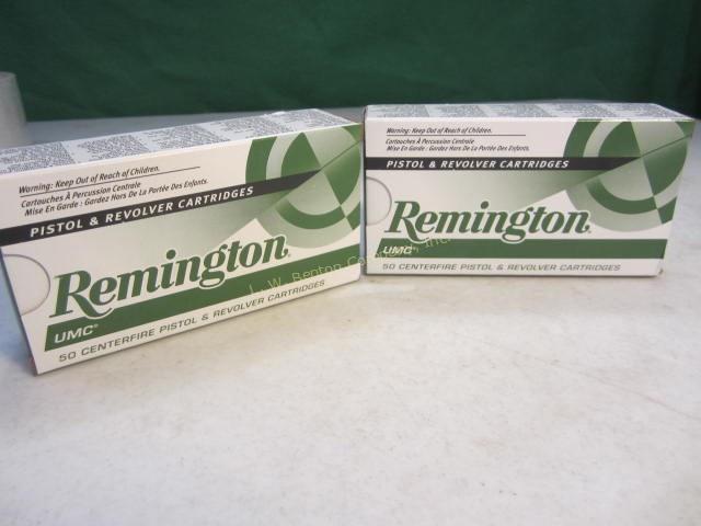 REMINGTON UMC 9MM AMMO 2 Boxes - 115 Grain Metal Case - 50