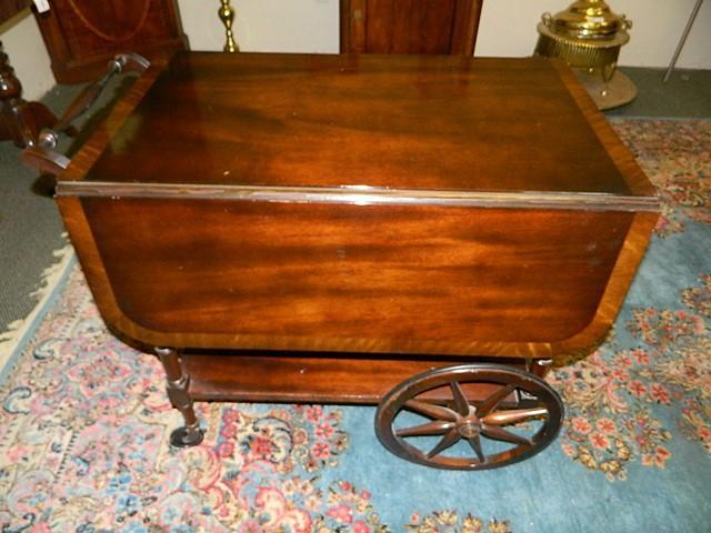 Cherry Wood Tea Cart Tyres2c