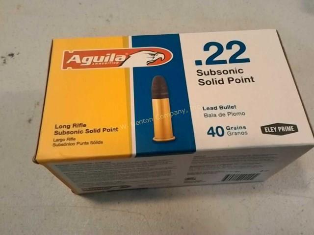 Aguila 22 long rifle subsonic ammo