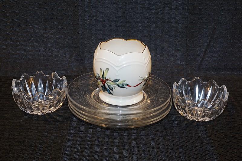 Cut glass bowls salad plates lenox winter greetings lot 4040 of 706 cut glass bowls salad plates lenox winter greetings m4hsunfo