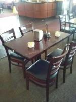 46x28 Wood Table and 4 wood chairs