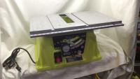 Ryobi 10 inch table saw. On/off Switch appears t