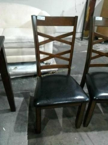 Lot 1011 Of 310 VERY NICE DINING ROOM CHAIR WITH BLACK PADDED