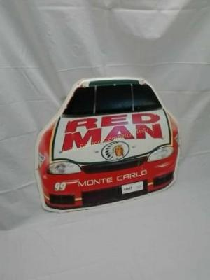 REDMAN TIN RACE CAR SIGN APPROXIMATELY 12 INCHES
