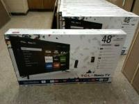 48 INCH TCL ROKU TV BRAND NEW IN BOX 1080 P LED SMART TV