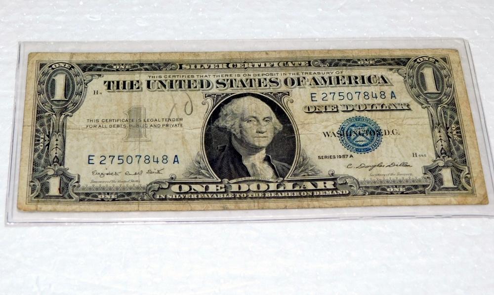 1957 A Blue Seal Silver Certificate