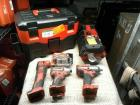 MILWAUKEE BRAND TOOL KIT, TO INCLUDE 1 BATTERY POWERED SPEAKER, BATTERY POWERED PORTABLE VACUUM, BATTERY AND CHARGER, IMPACT WRENCH, IMPACT DRIVER