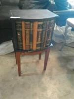 Oriental Traders side table with inside storage