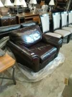 Klussner leather living room chair, this chair is
