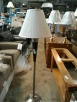 Approximately 5 foot tall metal base floor lamp,