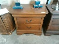 Two drawer wooden night stsnds