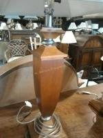 Beautiful wooden table top lamps, we took these