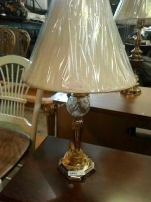 Beautiful brass look and cut glass look lamp