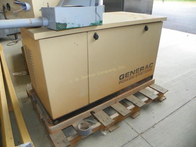 generac generator runs on natural gas 10kw single