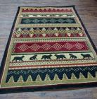 MULTI COLORED AREA RUG, DOG AND CAT MOTIF