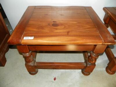 Lot 1019 Of 198: SOLID WOOD END TABLE,30X24