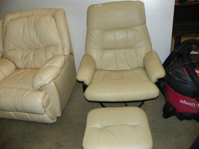 Phenomenal Leather Swivel Rocker With Foot Stool Inzonedesignstudio Interior Chair Design Inzonedesignstudiocom
