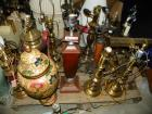 APPROX 20 MISC STYLE AND TYPE TABLE LAMPS AND SHADES