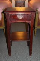 VINTAGE MAHOGANY END TABLE (MARKED)